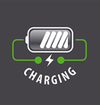 logo battery charger and lightning vector image vector image