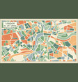London england map in abstract retro style