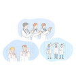 medicine doctors success teamwork achievement vector image