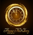 new year background with golden clock vector image vector image