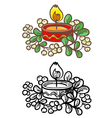 New Year candle vector image