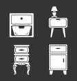 nightstand icon set simple style vector image vector image