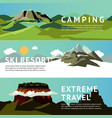 outdoor recreation horizontal banners vector image vector image