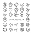 outline star icon set vector image vector image