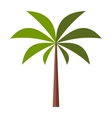 Palm tree flat icon vector image vector image