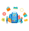 payment electronic terminal gprs vector image vector image