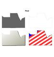 Pinal County Arizona outline map set vector image vector image