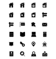 Real Estate Solid Icons 1 vector image vector image