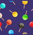 seamless pattern colored candy lollipop caramel vector image vector image