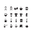 set of coffee shop icon symbol vector image vector image