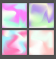 set of color holographic squares design vector image vector image