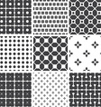 Set of monochrome geometric seamless universal vector image vector image