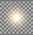 shining star on transparent background golden vector image vector image