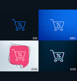 shopping cart line icon online buying sign vector image vector image