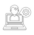 technology computing support cartoon vector image vector image