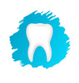 tooth symbol with blue blots vector image vector image