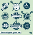 Vintage lacrosse labels vector | Price: 1 Credit (USD $1)