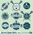 Vintage Lacrosse Labels vector image vector image