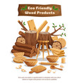 wood industry production poster vector image vector image