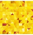 Yellow abstract triangles seamless pattern vector image vector image