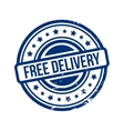Free delivery stamp vector image