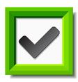 green positive checkmark vector image