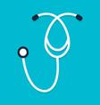 stethoscope flat icon vector image