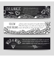 Ethnic banners with flowers and arrows vector image