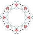 Abstract floral frame design element vector image