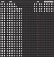 Departure board - destination airports vector image