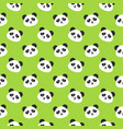 happy panda faces seamless pattern vector image
