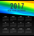 2017 calendar template with colorful shapes vector image vector image