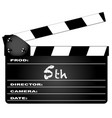 5th year clapperboard vector image vector image