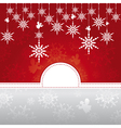 abstract christmas card with snowflakes vector image vector image