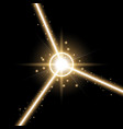 abstract laser beams golden color vector image vector image