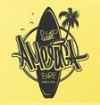 america surfing artwork t-shirt apparel print vector image vector image