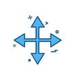 arrows icon deisgn vector image vector image