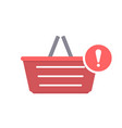 attention basket buy shop shopping icon vector image vector image