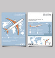 aviation flyers set with airplane vector image vector image