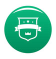 badge crown icon green vector image vector image