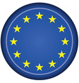 badge EU flag vector image vector image