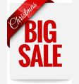 Big Christmas sale Label vector image