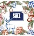 Big Christmas Sale Vintage vector image