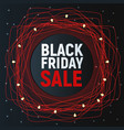 black friday sale abstract poster red promo vector image vector image