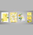 botanical wedding invitation card save date vector image vector image