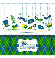 Bright carnival and Welcome to Carnival vector image vector image