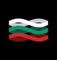 bulgaria flag ribbon isolated bulgarian symbol vector image
