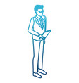 businessman with document board vector image