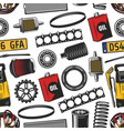 car spare parts and tools seamless pattern vector image vector image