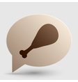 Chicken leg sign Brown gradient icon on bubble vector image vector image